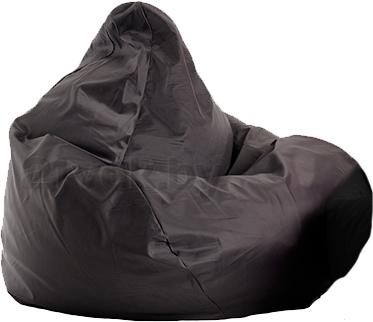 Бескаркасное кресло Baggy Груша Мега (черное) - общий вид