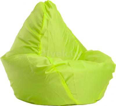 Бескаркасное кресло Baggy Груша Макси (салатовое) - общий вид