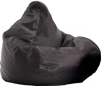 Бескаркасное кресло Baggy Груша Макси (черное, оксфорд) - общий вид