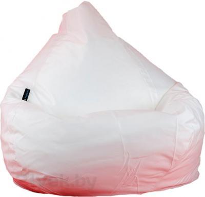 Бескаркасное кресло Baggy Груша Макси (белое, оксфорд) - общий вид