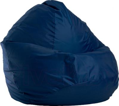 Бескаркасное кресло Baggy Груша Макси (темно-синее) - общий вид