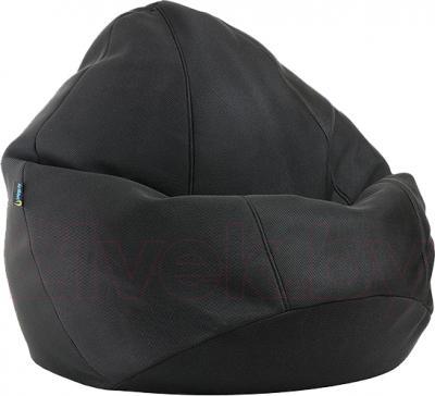 Бескаркасное кресло Baggy Груша Макси (черное, сетка) - общий вид
