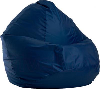 Бескаркасное кресло Baggy Груша Медиум (темно-синее) - общий вид