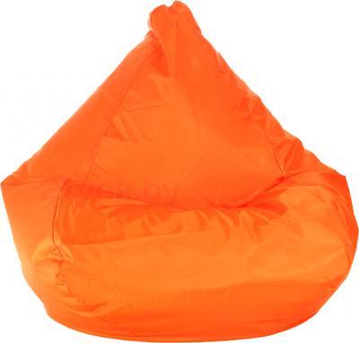 Бескаркасное кресло Baggy Груша Медиум (оранжевое) - общий вид