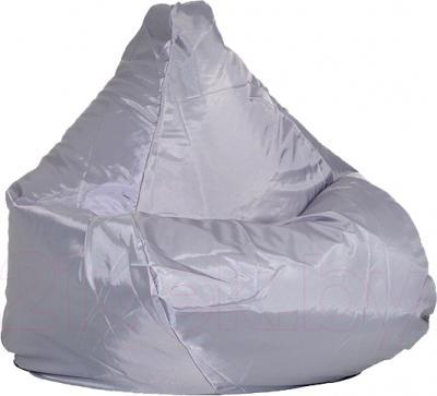 Бескаркасное кресло Baggy Груша Медиум (светло-серое) - общий вид