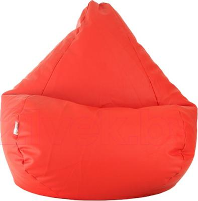 Бескаркасное кресло Baggy Груша Медиум (красное, экокожа) - общий вид