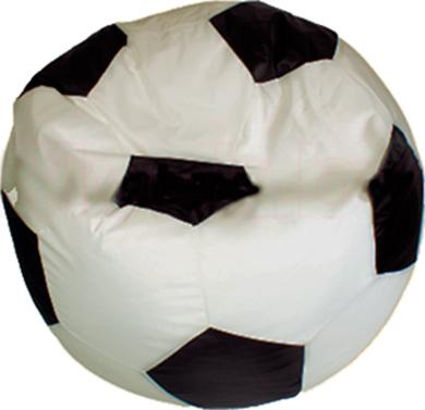 Бескаркасное кресло Baggy Футбольный мяч Стандарт (бежево-черное) - общий вид