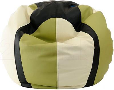 Бескаркасное кресло Baggy Баскетбольный мяч Мини (оливково-черное) - общий вид
