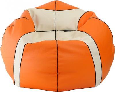 Бескаркасное кресло Baggy Баскетбольный мяч Мини (оранжево-белое) - общий вид