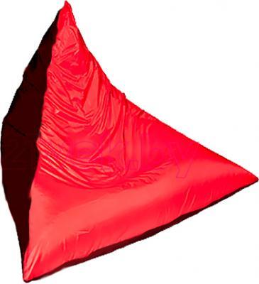 Бескаркасное кресло Baggy Пирамида (черно-красное) - общий вид