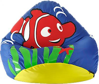 Бескаркасное кресло Baggy Рыбка (синее) - общий вид