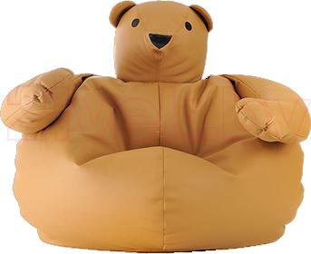 Бескаркасное кресло Baggy Мишка (светло-коричневое) - общий вид