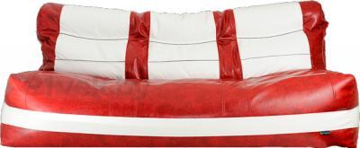 Бескаркасный диван Baggy Комфорт Макси (бело-красный) - общий вид