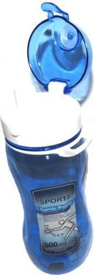 Спортивная бутылка NoBrand 7744CJ (синий) - с открытой крышкой