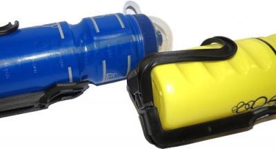 Спортивная бутылка NoBrand BT1121 (желтый) - в креплении для велосипеда