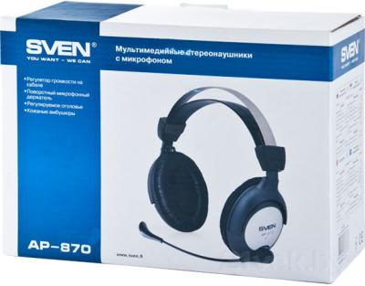 Наушники-гарнитура Sven AP-870 - упаковка