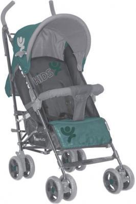 Детская прогулочная коляска Lorelli Fiesta (Green-Gray Kids) - общий вид