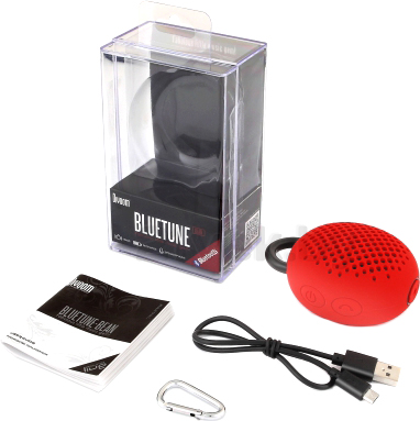 Портативная колонка Divoom Bluetune-BEAN (Red) - комплект поставки