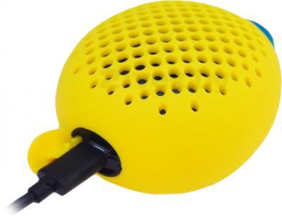 Портативная колонка Divoom Bluetune-BEAN (Yellow) - зарядка по USB-кабелю