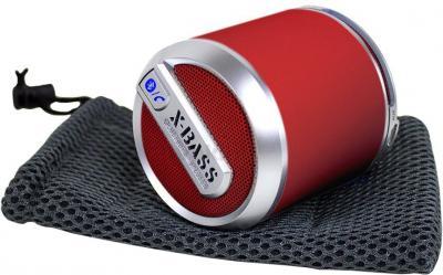 Портативная колонка Divoom Bluetune-SOLO (Red) - общий вид с чехлом