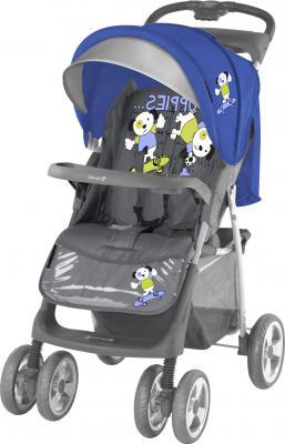 Детская прогулочная коляска Lorelli Foxy (Blue-Gray Puppies) - общий вид