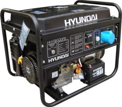 Бензиновый генератор Hyundai HHY9000FE - общий вид