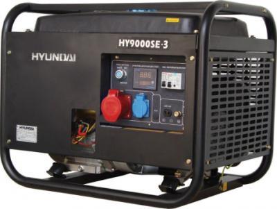 Бензиновый генератор Hyundai HY9000SE-3 - общий вид