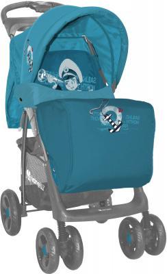 Детская прогулочная коляска Lorelli Foxy (Gray-Pink Spring) - чехол для ног (цвет Blue Captain)