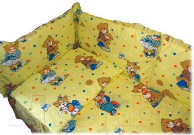 Комплект в кроватку Ночка Медвежата 5 (желтый) - общий вид