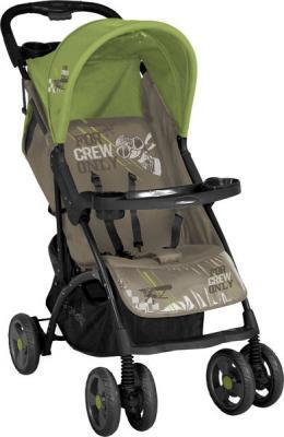 Детская прогулочная коляска Lorelli Smarty (Caramel Green Pilot) - общий вид
