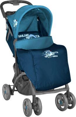 Детская прогулочная коляска Lorelli Smarty (Beige Giraffes) - чехол для ног (цвет Blue Captain)