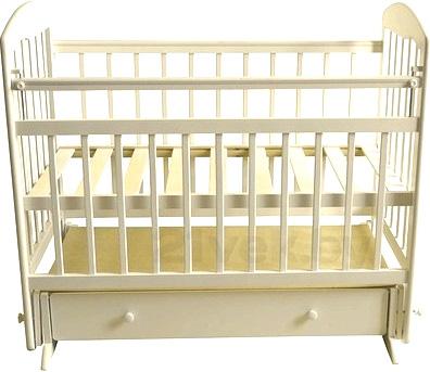 Детская кроватка Эстель 8 (слоновая кость) - общий вид