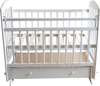 Детская кроватка Эстель 8 (белый) - общий вид