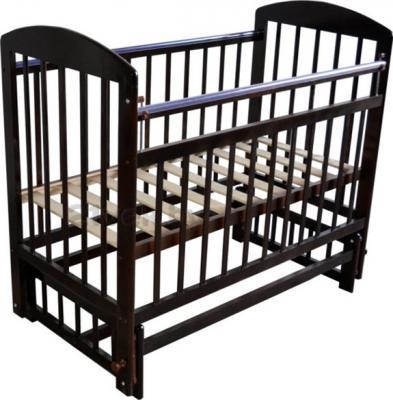 Детская кроватка Эстель 9 (темный) - общий вид