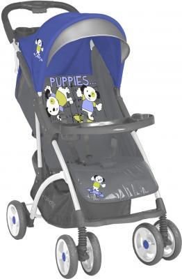 Детская прогулочная коляска Lorelli Smarty (Blue-Gray Puppies) - общий вид