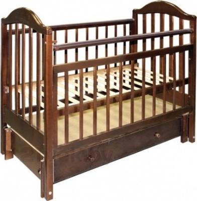 Детская кроватка Эстель 10 (Темная) - общий вид