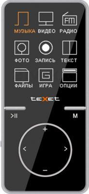 MP3-плеер TeXet T-47 (8Gb, черный) - общий вид