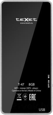 MP3-плеер TeXet T-47 (8Gb, черный) - вид сзади