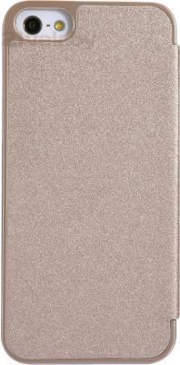 Чехол-флип Nillkin Sparkle Champaign Gold (для Apple Iphone 5/5S) - вид сзади