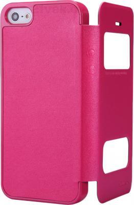 Чехол для телефона Nillkin Sparkle Rose Red (для Apple Iphone 5/5S) - в раскрытом виде