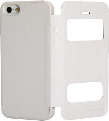 Чехол-флип Nillkin Sparkle White (для Apple Iphone 5/5S) - в раскрытом виде