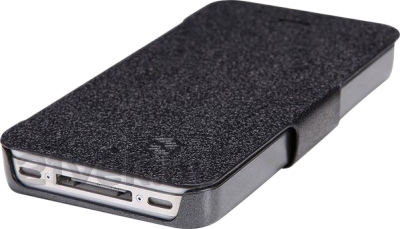 Чехол-флип Nillkin Fresh Series Black (для Apple Iphone 4/4S) - вид снизу