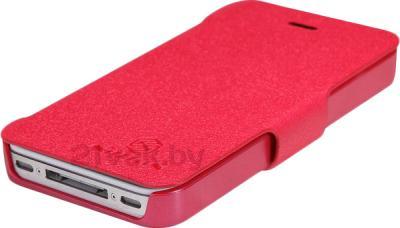 Чехол-флип Nillkin Fresh Series Red (для Apple Iphone 4/4S) - вид снизу