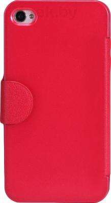 Чехол-флип Nillkin Fresh Series Red (для Apple Iphone 4/4S) - вид сзади