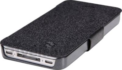 Чехол-флип Nillkin Fresh Series Black (для Apple Iphone 5/5S) - вид снизу
