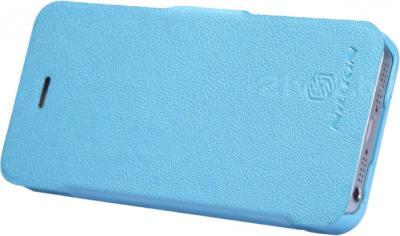 Чехол для телефона Nillkin Fresh Series Blue (для Apple Iphone 5/5S) - вполоборота