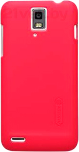 Задняя крышка Nillkin Super Frosted Bright Red (для Huawei Ascend D1/U9500) - общий вид на телефоне