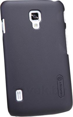 Задняя крышка Nillkin Super Frosted Black (для LG Optimus L7 II/P715) - общий вид на телефоне