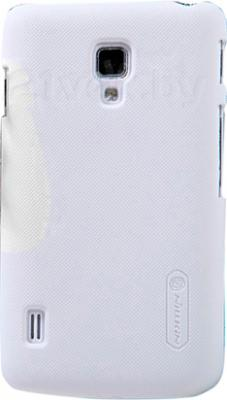 Задняя крышка Nillkin Super Frosted White (для LG Optimus L7 II/P715) - общий вид на телефоне