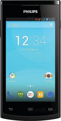 Смартфон Philips S308 (черный) - общий вид